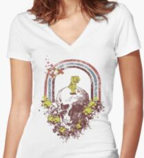Walking On A Dream Women's Fitted V-Neck T-Shirt