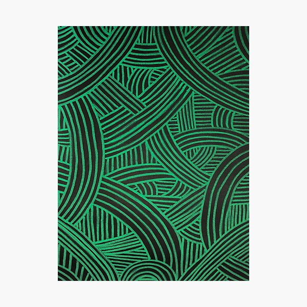 Black and Green Noodle Tribe! Photographic Print