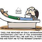 Medical Cartoon- Information Saturation by David Stuart