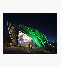 Glasgow Clyde Auditorium at Night Photographic Print