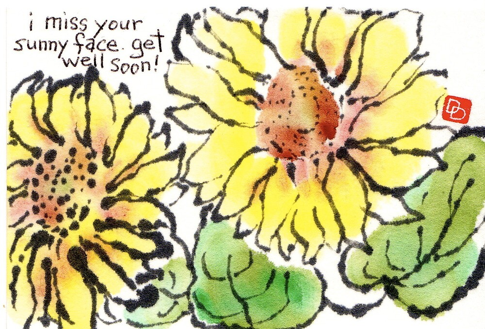 I Miss Your Sunny Face (Get Well Card) by dosankodebbie