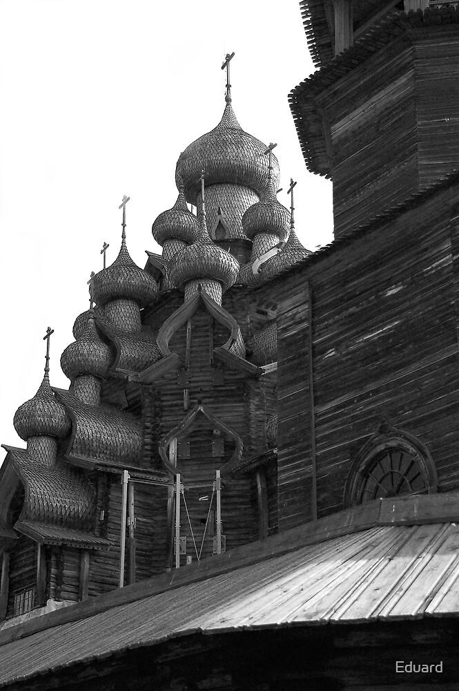 Orthodox wooden church by Eduard Isakov