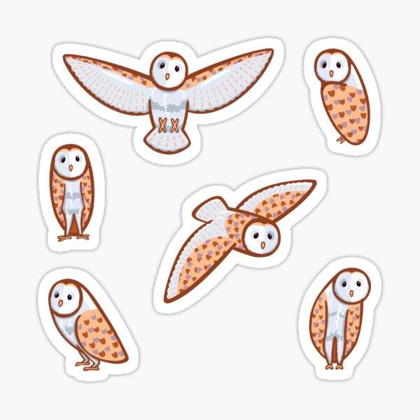 Barn Owl Pattern Sticker