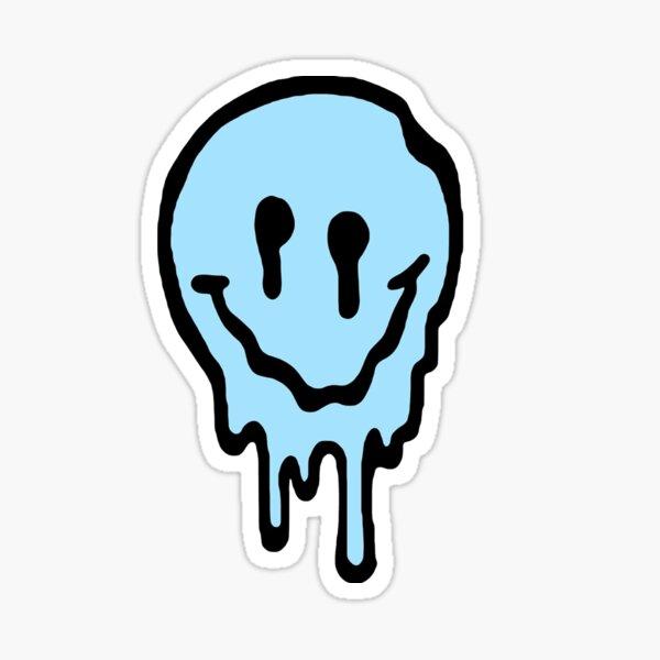 Drippy smiley face  Sticker