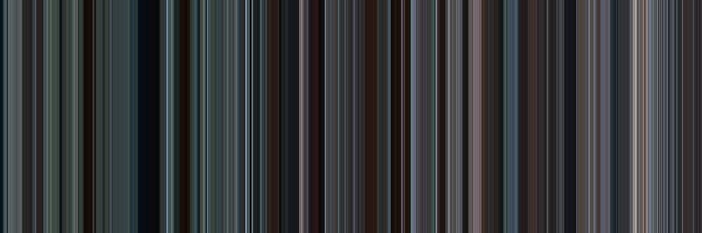 Moviebarcode: Brokeback Mountain (2005) [Simplified Colors] by moviebarcode