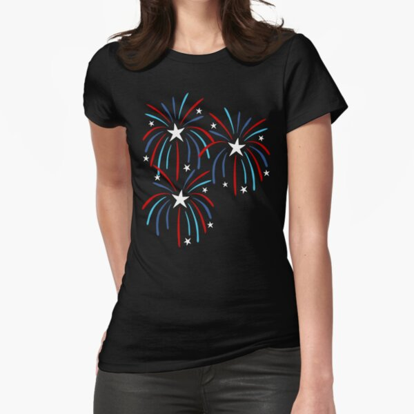 Fireworks Fitted T-Shirt