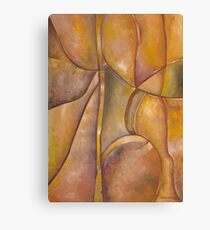Earth Tone Abstract Original Art Work Canvas Print