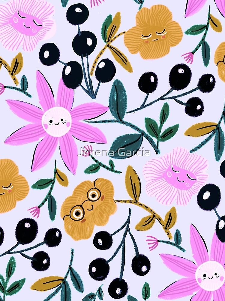 Happy delightful flower garden by Jime-Creates
