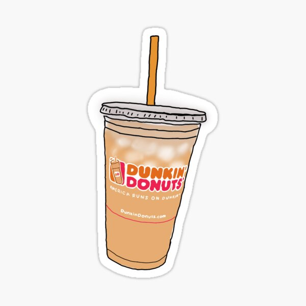 Dunkin' Dounts' iced coffee Sticker