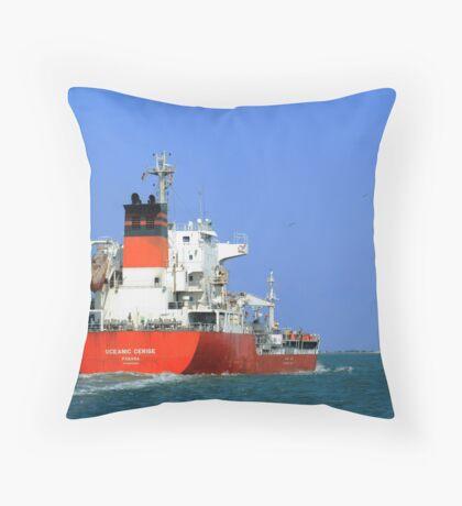 Oceanic Cerise Throw Pillow