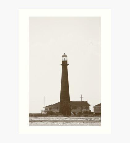 Point Bolivar Lighthouse Art Print