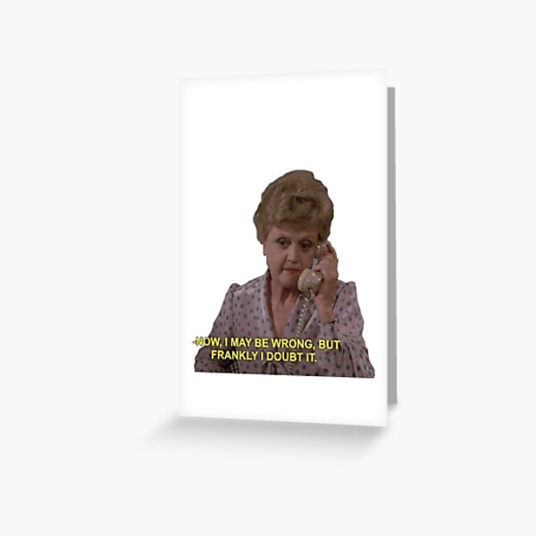 Jessica Fletcher Sticker  Greeting Card