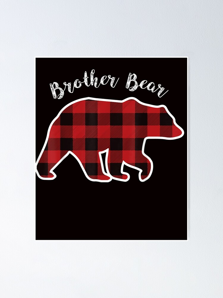 Men Red Plaid Christmas Pajama Family Gift BROTHER BEAR