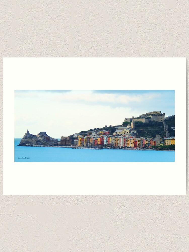 Alternate view of A View of Porto Venere Art Print