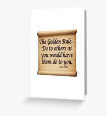 THE GOLDEN RULE Greeting Card