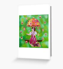 'The Cupcake Shower' Greeting Card