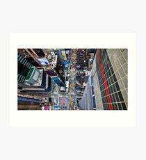 Manhattan in motion - bird's eye Times Square Art Print