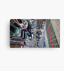 Manhattan in motion - bird's eye Times Square Metal Print
