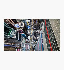 Manhattan in motion - bird's eye Times Square Photographic Print