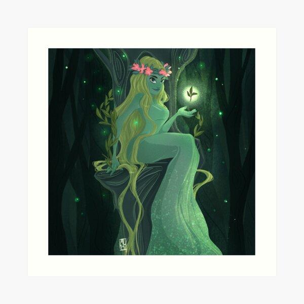 Forest Goddess Art Print