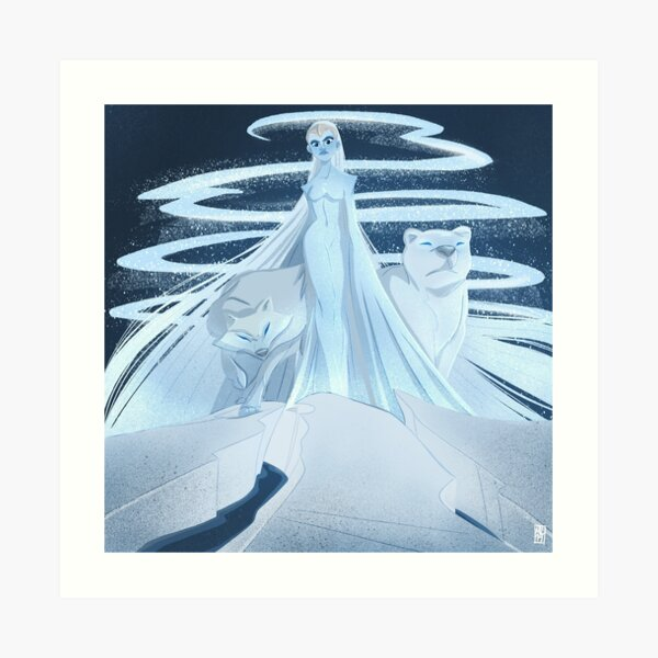 Ice Goddess Art Print