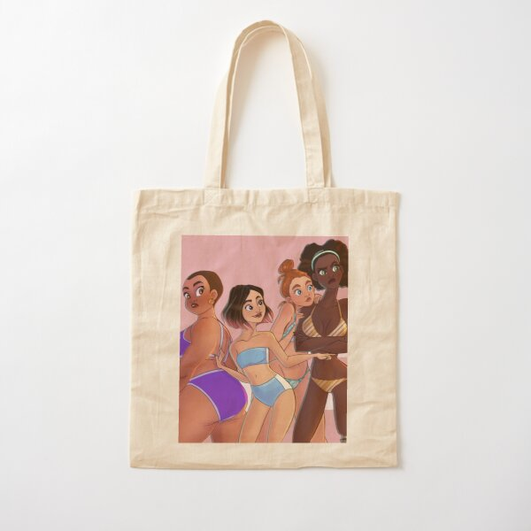 Beach Bodies Cotton Tote Bag