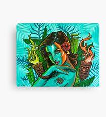 Man Eater Pin Up Girl Canvas Print