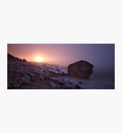 Light house in the fog - Providence Photographic Print