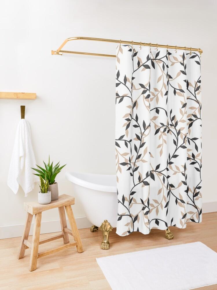 Alternate view of Autumn decoration Shower Curtain