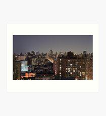 Manhattan in motion - upper west side  Art Print