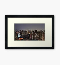 Manhattan in motion - upper west side  Framed Print