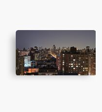 Manhattan in motion - upper west side  Canvas Print