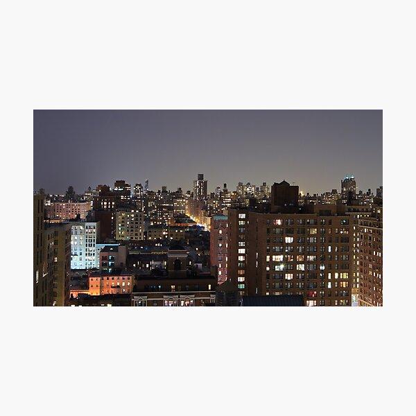 Manhattan in motion - upper west side  Photographic Print