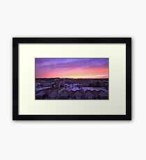 Manhattan in motion - Queens sunset Framed Print