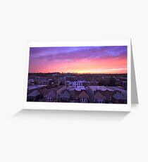 Manhattan in motion - Queens sunset Greeting Card