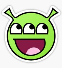 Awesome Alien Face Sticker