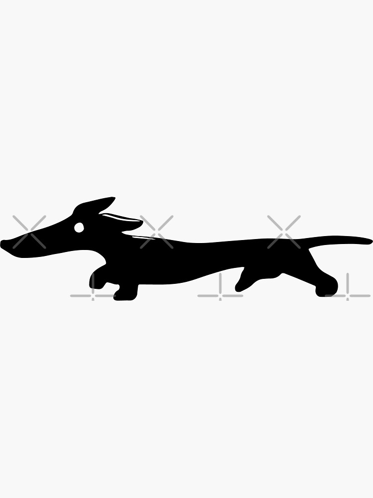 Abstract Dachshund by tribbledesign