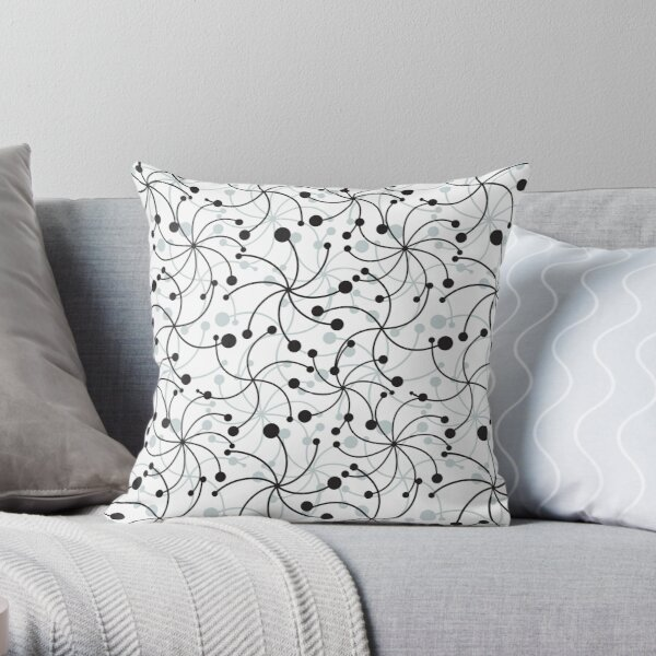 Decorative spiral with dots Throw Pillow