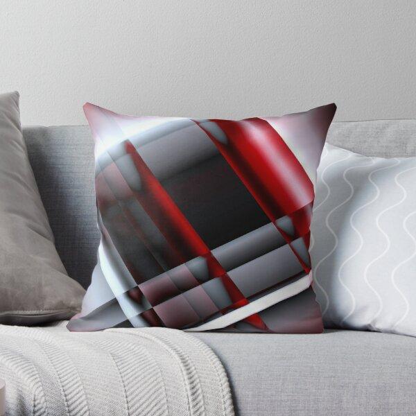 Decorativo rojo y blanco Cojín