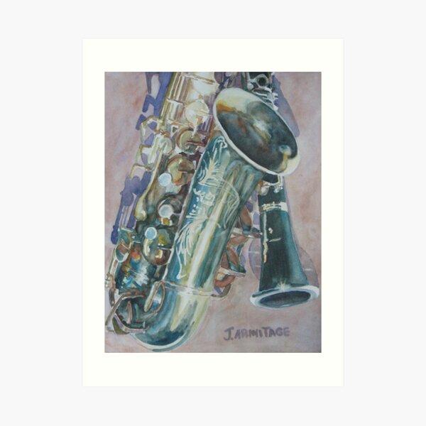 Jazz Buddies Art Print