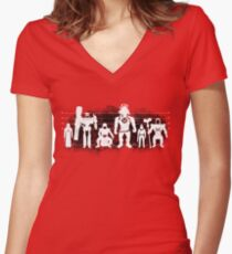 Plastic Villains / The Usual Suspects Women's Fitted V-Neck T-Shirt