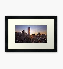 Manhattan in motion Framed Print