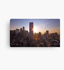 Manhattan in motion Canvas Print