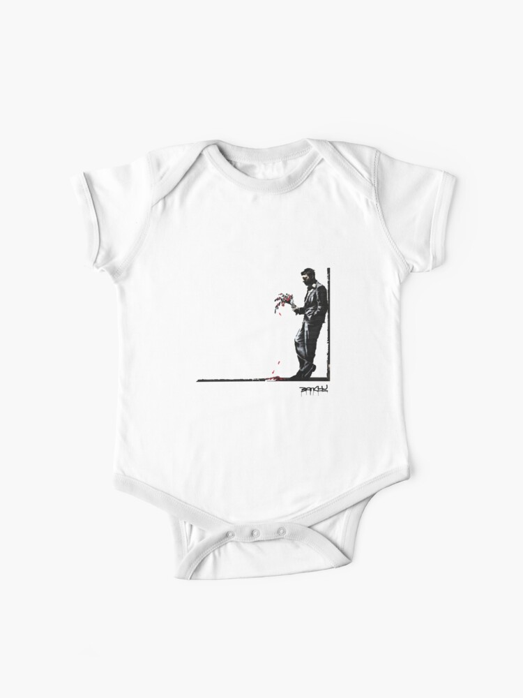 Banksy Waiting In Vain Baby One Piece By Inkstyl Redbubble