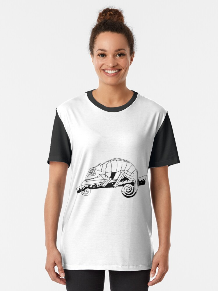 Alternate view of Chameleon Vector Graphic T-Shirt