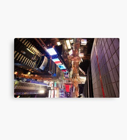 Manhattan in motion - Times Square  Canvas Print