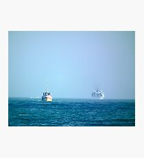 Working at sea Photographic Print