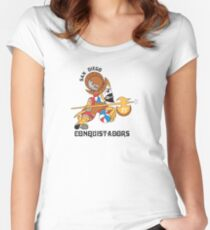 San Diego  Conquistadors Women's Fitted Scoop T-Shirt