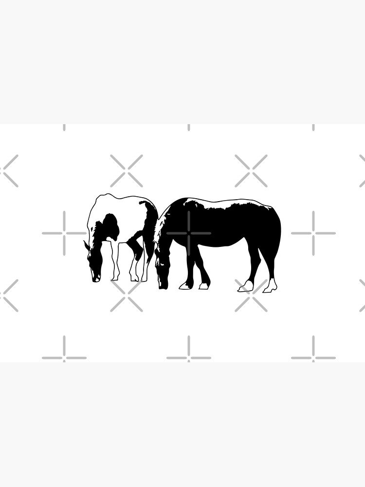 Horses in a field Vector by tribbledesign
