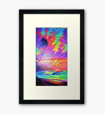 Mango Sunset Framed Print